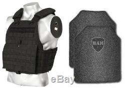 Revêtement De Base Frag De Gilet Pare-balles Ar500 Anti-balle Pour Armure Corporelle - Quad Bk