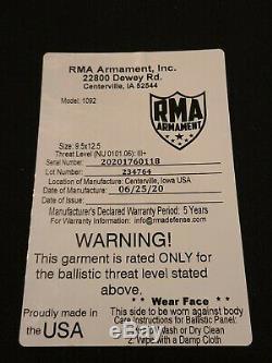 Rma 1092 Niveau III + Corps Armure Set (2 Plaques)