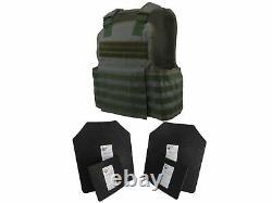 Scorpion Tactique 4 Pc Niveau III Ar500 Body Armor Muircat Molle II Veste Vert