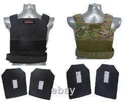 Scorpion Tactique Niveau III + / Ar500 Plaques D'armure De Corps De Corps Bobcat Gilet De Dissimulation