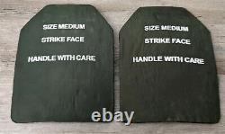 Set De 2 Plaques D'armure De Corps Balistique De Niveau III Verte De Taille Apm2 Medium
