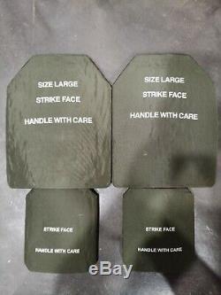 Set De Grandes Plaques 10x12.5 Sapi M 7.62mm Avec Plaques Latérales Niveau III Protection