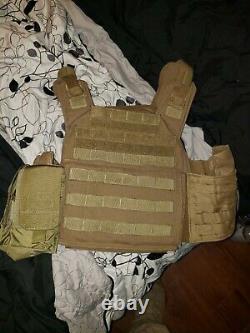 Shellback Tactical Banshee Plate Carrier Avec Plaques Ar500 &niveau 3a Armure Douce