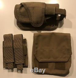 Shellback Tactique Coyote Tan Plaque Ar Porte Avec 500 Plaques, Plus Pouches Supplémentaires