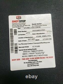 Shot Stop Gt2 Body Armor Plates / Pair / Duritium /. 5 Épais / 4.5# / 15