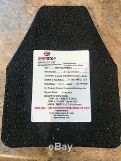 Shotstop Duritium Gt Niveau III + Armure En Céramique 8x10.5 3lbs Épais