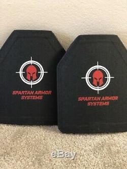 Spartan Armure Plaques Uhmwpe Niveau III Ensemble De Deux