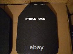 Strike Face Plaques Balistiques Niveau 3 10x12 Gamma Plus Gilet Pare-balles