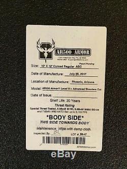 Support De Plaques Balistique Warrior Dcs Avec (4) Plaques De Blindage Ar500 Niveau III +