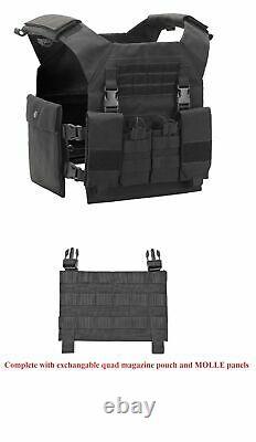 Tactical Scorpion 4 Pc Niveau Iii+ / Ar500 Body Armor Plaques Procat Molle Vest