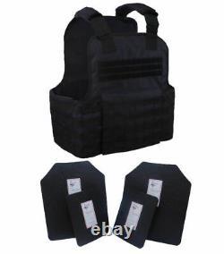 Tactical Scorpion Gear 4 Pc Niveau III Ar500 Body Armor Plaques Molle Vest Set-up
