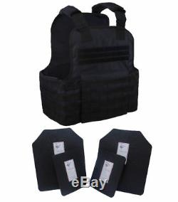 Tactical Scorpion Gear 4 Plaques D'armure Corporelle De Niveau III Ar500 Molle Vest Set