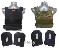Tactical Scorpion Level III + / Ar500 Plaques D'armure Corporelle Veste De Dissimulation Bobcat