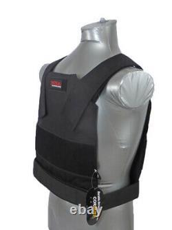 Tactical Scorpion Level Iii+ / Ar500 Body Armor Bobcat 11x14 Gilet Dissimulé