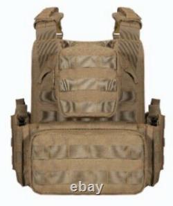 Tactical Vest Curved Niveau 3 Plaques Anti-balles Fde
