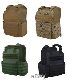 Tactique Scorpion 4 Pc Niveau III + / Ar500 Armure Du Corps Plaques Muircat Molle Gilet