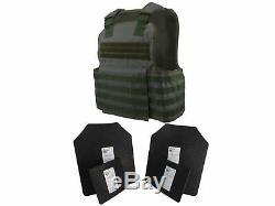 Tactique Scorpion 4 Pc Niveau III Ar500 Body Armor Muircat Molle II Gilet Vert