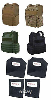 Tactique Scorpion 4pc Niveau III + / Ar500 Corps Armure Plaques 11x14 Muircat Gilet