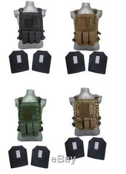 Tactique Scorpion III + Niveau De Vitesse / Ar500 Armure Du Corps Plaques Wildcat Molle Gilet