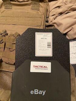 Tactique Scorpion Vitesse 11 X 14 Niveau III + Spall Coated Corps Armure Coyote