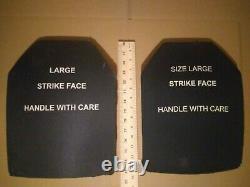 Taille Grand Visage De Grève 7.62mm Protection De Balle Plaques Balistiques Gilet Pare-balles