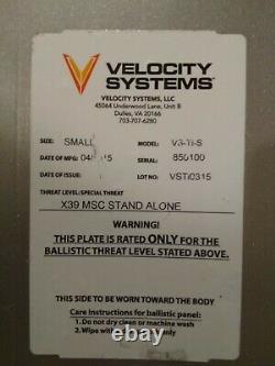 Velocity Systems Titanium Ulv Plaques Balistiques Et Porte-avions Petits