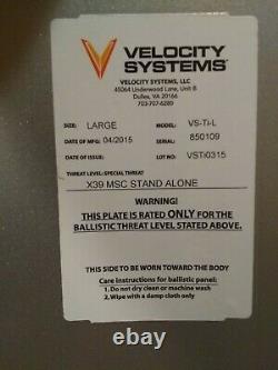 Velocity Systems Titanium Ulv Plaques Balistiques Et Transporteur Grand