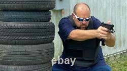 Vente! Single Nij Niveau 3 Certifié 11x14 Body Armor Insert Sapi Uhmwpe Pas Ar500