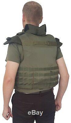 Veste De Transport De Plaques De Blindage Corps Entier III Protection De Grade Molle Kevlar Incluse