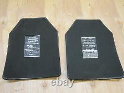 X-rondouillard Armor Inserts Niveau 3 Céramique Face Plaques Strike 11x14 Avant Et Arrière