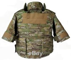 XL Corps Armure Veste Tactique Iii-a En Kevlar Imperméable À L'eau, Inserts Inclus