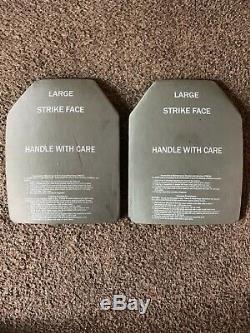 (lot De 2) Niveau III Plaque Ballistic Armure Sapi 7,62 Grande Taille