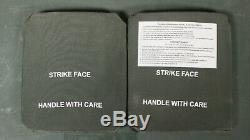 (lot De 2) Niveau III Plaque Ballistic Armure Sapi 7,62 Side Plate
