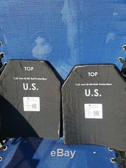 (lot De 2) Niveau III Plaque Ballistic Armure Sapi 7,62 Taille Moyenne