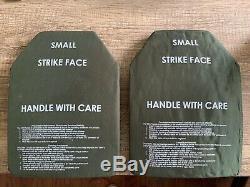 (lot De 2) Niveau III Plaque Ballistic Armure Sapi 7,62 Taille Petit